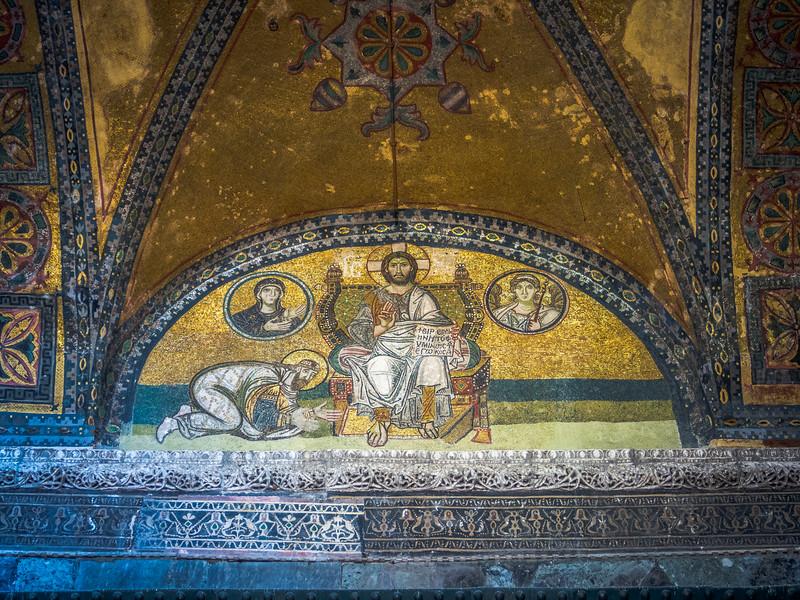 The Emporer before Christ, Hagia Sophia, Istanbul