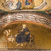 Mosaic of Theodore Metochites presenting a model of his church to Christ, Chora Church, Istanbul