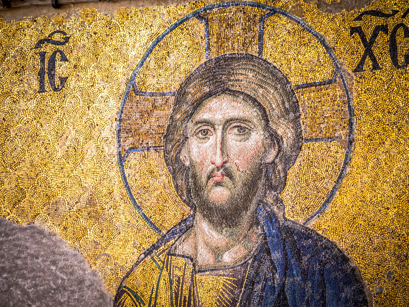 Christ from the Deësis mosaic, Hagia Sophia, Istanbul