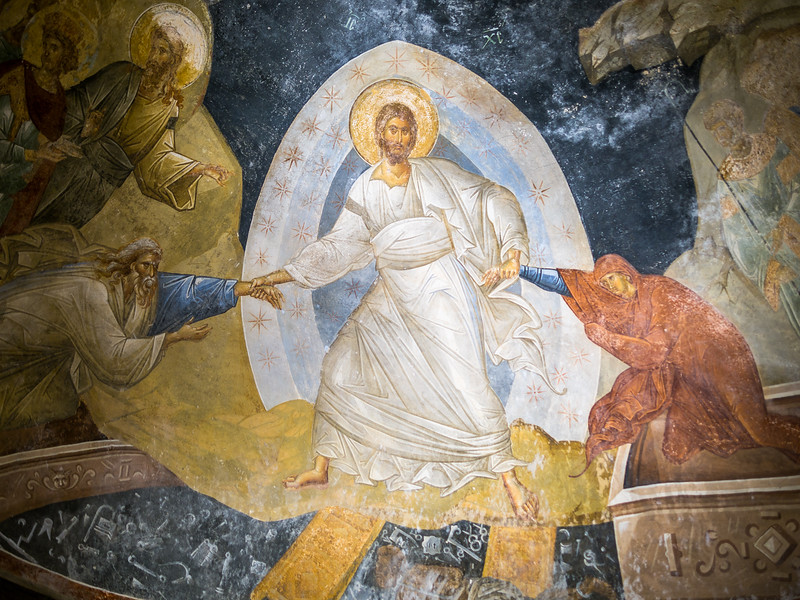 Christ Resurrecting Adam and Eve, Chora Church, Istanbul