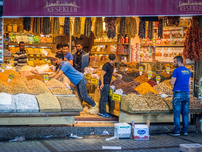 Getting Ready for the Day, Spice Market, Istanbul