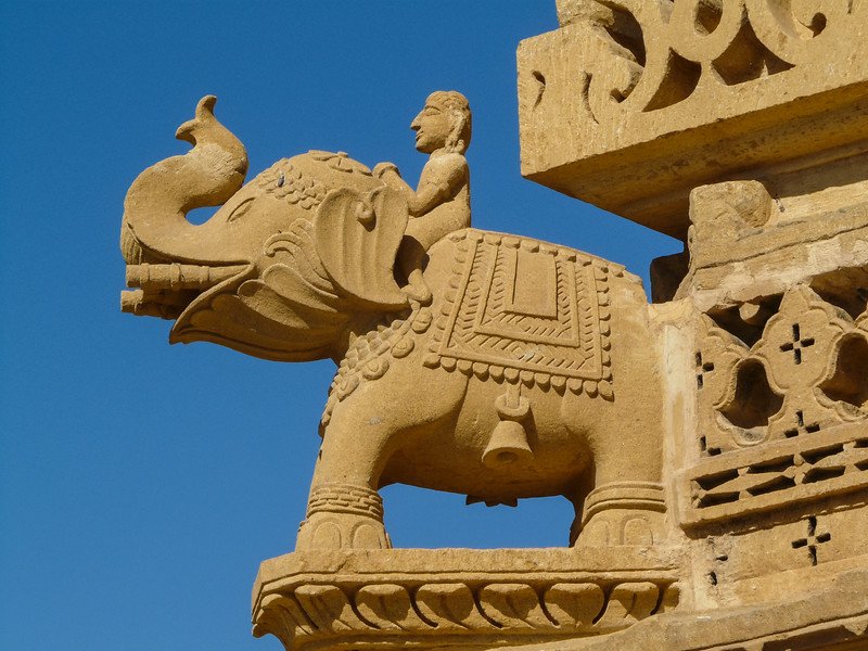 Battle Elephant Carving, Jain Temple, Thar Desert, India