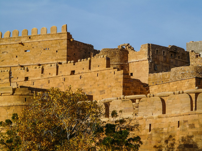 Stones and Boulders Sit Defensively on the Fort Walls, Jaisalmer