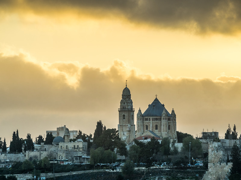 Dormition Abbey and the Sunset, Jerusalem