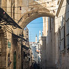 Passing the Ecce Homo Arch, Jerusalem