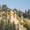 Russian Domes of the Church of Mary Magdalene, Jerusalem
