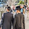 Orthodox Jews at Jaffa Gate, Jerusalem