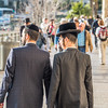 Orthodox Jews at Jaffa Gate, Jerusalem