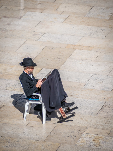 Reading at the Western Wall, Jerusalem