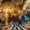 Worshipers at the Church of the Holy Sepulchre, Jerusalem
