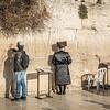 Touching the Western Wall, Jerusalem