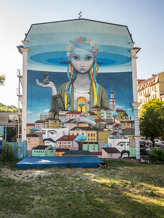 Dreamy Mural in the Podil District, Kiev