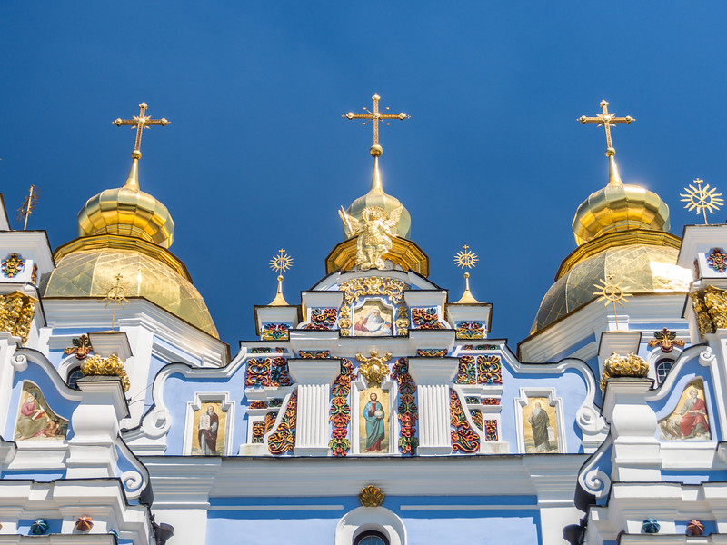 Gold and Blue atop St. Michael's Monastery Church, Kiev, Ukraine