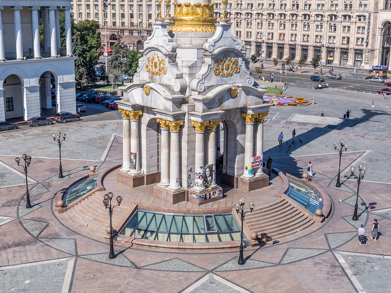 Base of the Maidan Column, Kiev, Ukraine