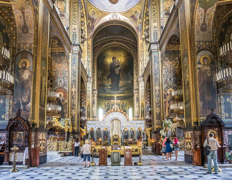 Inside St Volodymyr's Cathedral, Kiev, Ukraine