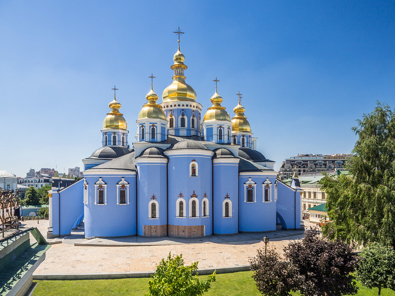 St. Michael's Monastery from the Rear, Kiev, Ukraine