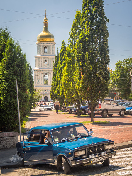 Classic Lada and the Belltower, Kiev