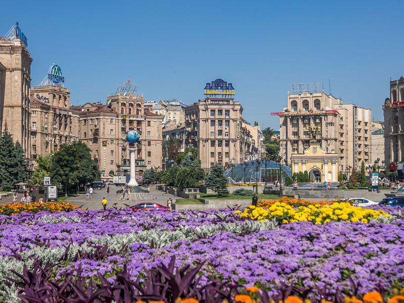 Flower Bed on the Maidan, Kiev, Ukraine
