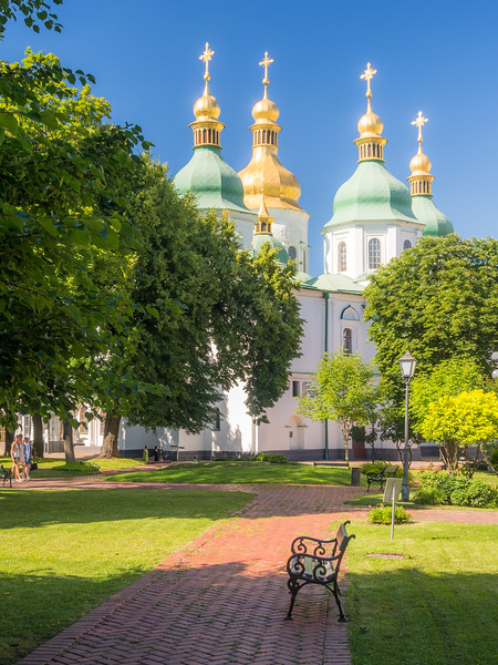 Peaceful Ground of St. Sophia's Monastery, Kiev