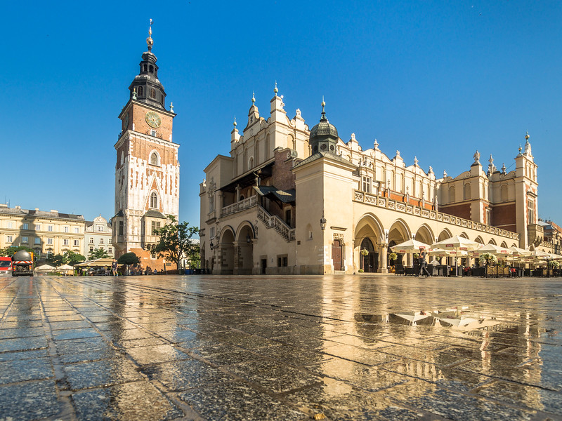 Cloth Hall and the Town Hall Tower, Kraków, Poland
