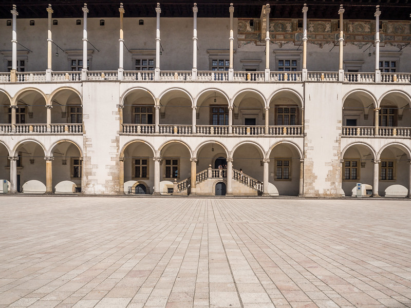 Inner Courtyard of Wawel Castle, Kraków, Poland