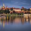 Evening on Wawel Castle, Kraków, Poland