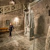 The Pope and the Tour Guide, Wieliczka Salt Mine, Poland