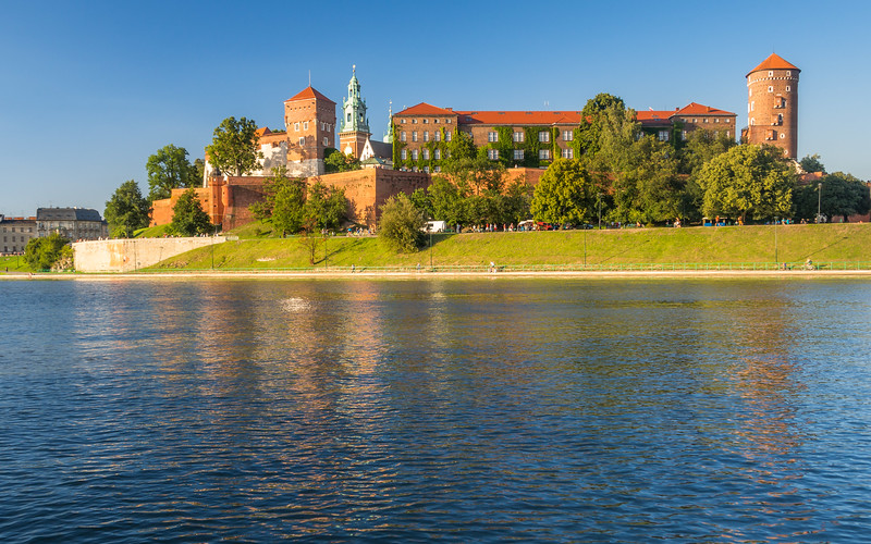 Wawel Castle on the Vistula, Kraków, Poland
