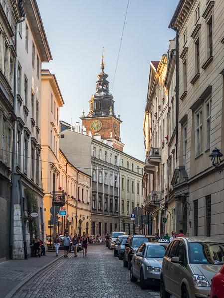 Evening Street Scene, Kraków, Poland