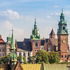 Spires of Wawel Cathedral, Kraków, Poland