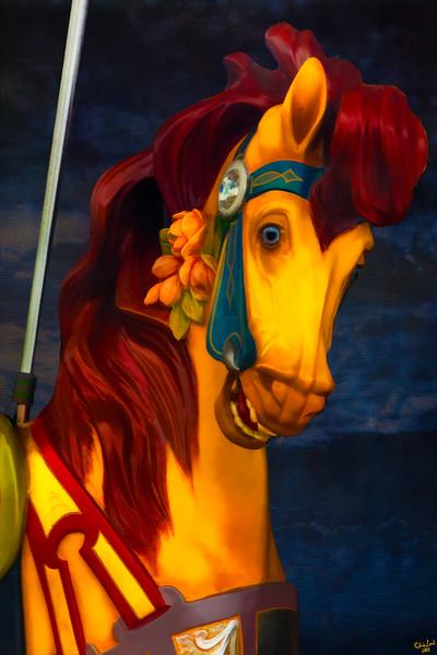 Lady Carousel Horse
