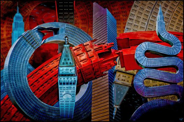Twisted City Sculpture Manipulation