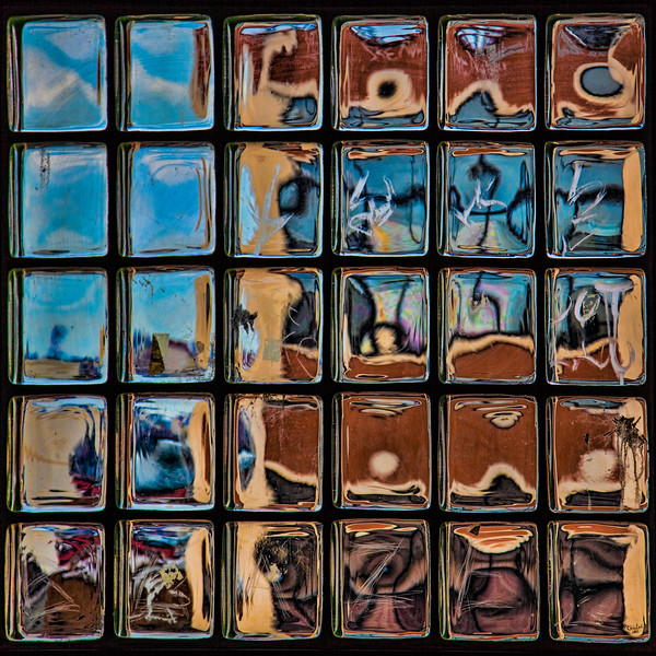 Abstract Glass Brick Window