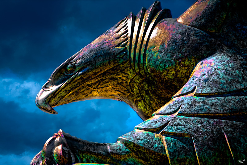 War Memorial Eagle At Battery Park, New York City
