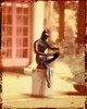 A Garden Statue In The Sun