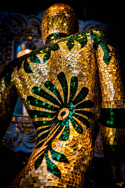 Golden Glass Mannequin