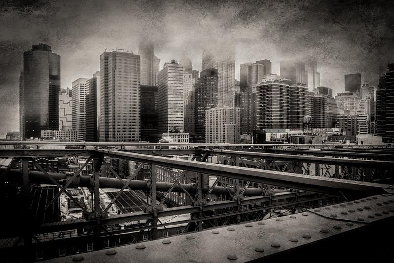 Brooklyn Bridge Grunge