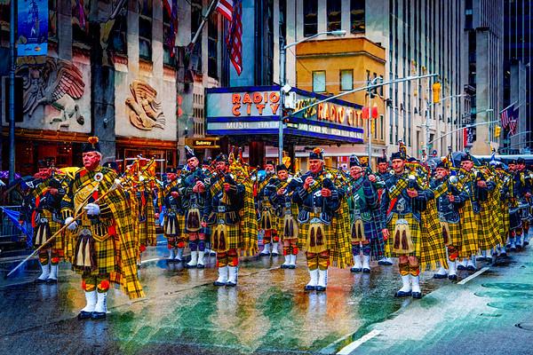 Scotsmen On Parade