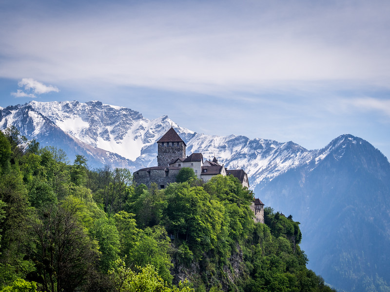 Vaduz Castle and the Alps, Liechtenstein