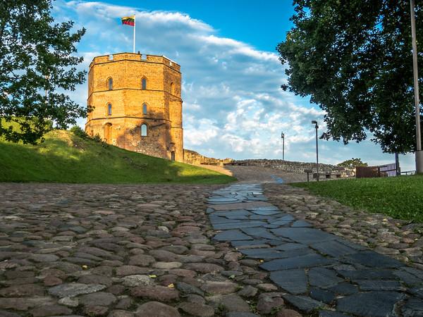 Morning on Gediminas Tower, Vilnius
