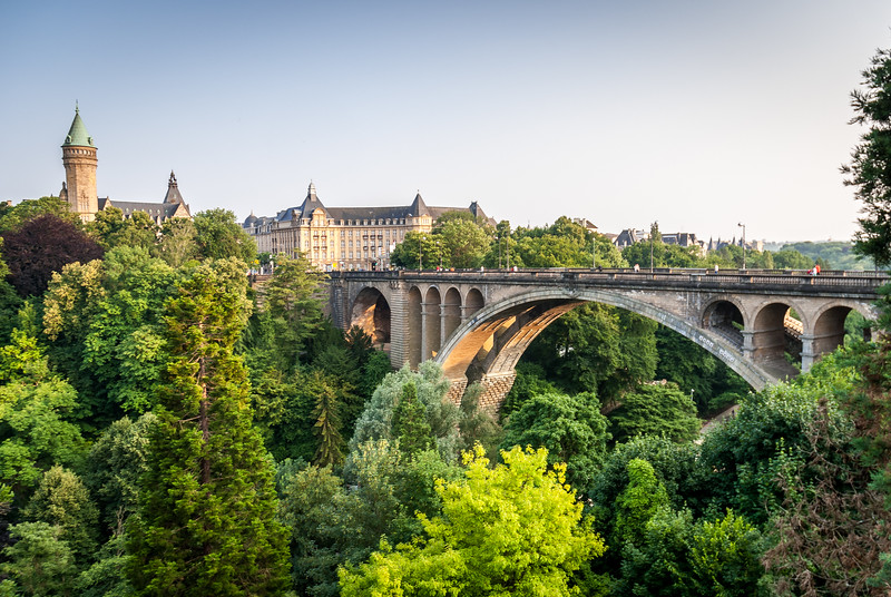 Pont Adolphe and the Citadel Gardens, Luxembourg