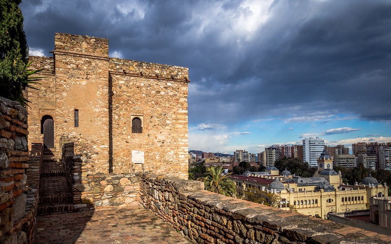 Atop the Walls of the Alcazaba, Málaga