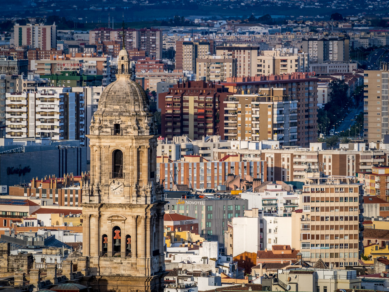 Cathedral Tower and the City, Málaga