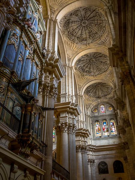 Organ and Ceiling of Málaga Cathedral