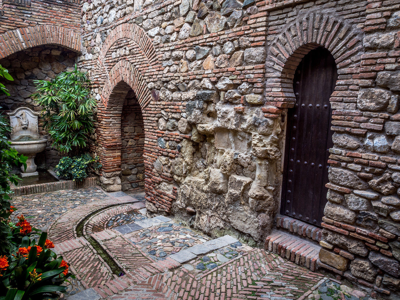 Passageways of the Alcazaba, Málaga