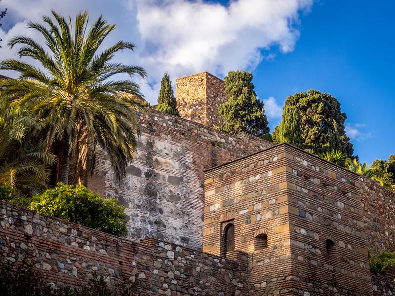 Walls of the Alcazaba, Málaga