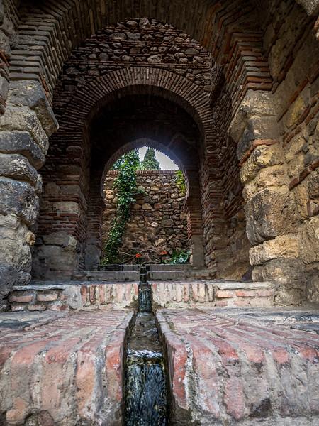 Water Chanel of the Alcazaba, Málaga
