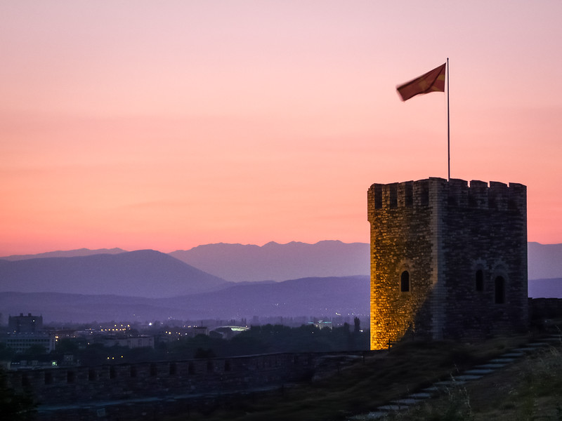 Sunset from Skopje Castle