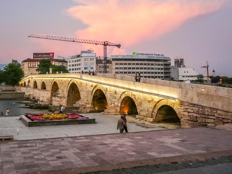 Kamen Bridge on the Vardar, Skopje