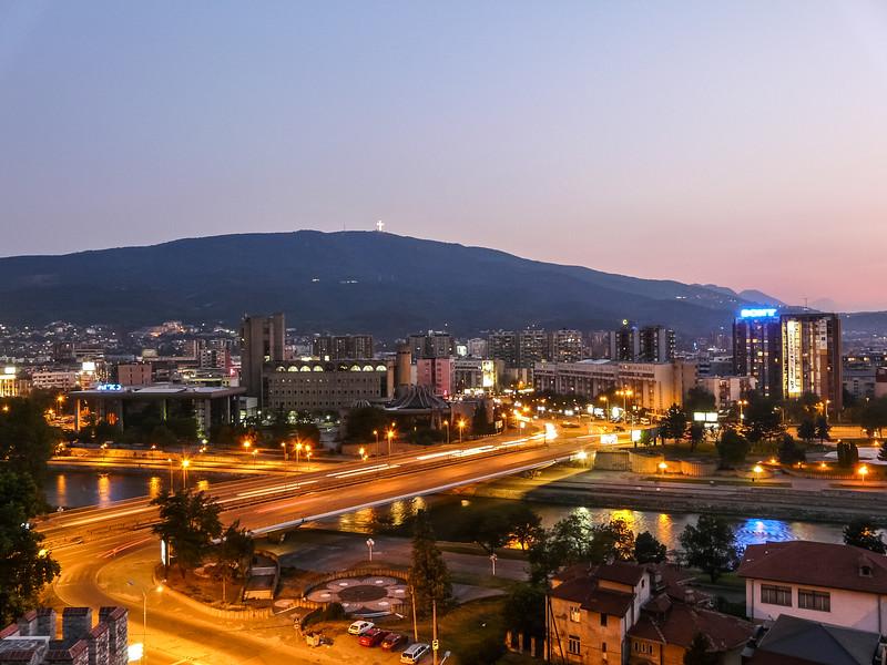 Skopje at Sunset, Macedonia